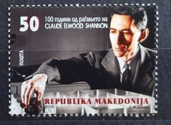 Macedonia 2016 The 100th Anniversary Of The Birth Of Claude Elwood Shannon MNH