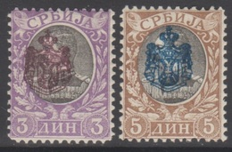 SERBIE 1903 2 TP Effigie Alexandre Obrenovitch N° 68 Et 69 Y&T Neuf * Charnière - Serbien