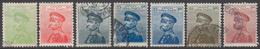 SERBIE 1913-14 7 TP Pierre Ier N° 116 à 122 Sauf 119 Y&T Oblitéré - Serbia