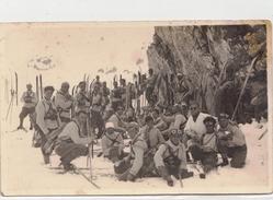 Da Identificare _FotoCartolina D'Epoca_Gruppo Di Alpinisti Professionisti Sciatori-Originale100% - Italia