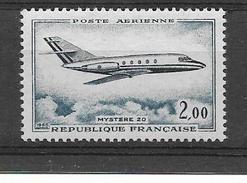 FRANCE 1965 Mystere 20    POSTE AERIENNE YT 42 Neuf** Cote 2015 = 1 €