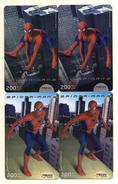 RECHARGES GSM/SIM  THAILANDE  *200  Spiderman  (lot De 4) - Thaïlande