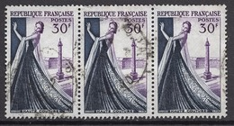 FRANCE 1953 - BANDE DE 3 TP  Y.T. N° 941 - OBLITERES /  FD507 - Used Stamps