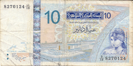 10   D I N A R I -- TUNISIA  --   Data  Di  Emissione   7. 11. 2005 - Tunisia