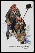 [006] Trunkener Mann In Schubkarren Deine Alte Wird Sich Freuen, Gel. 1936 - Humor