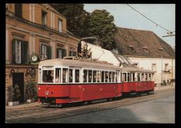 [006] Straßenbahn, Triebwagen Typ T1 408, Wien Zahnradbahnstraße Nußdorf 1986 - Tramways