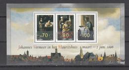 Netherlands Nederland 1996,3V In Block,Johannes Vermeer,paintings,schilderijen,gemälde,peintures,MNH/Postfris(L2977) - Kunst