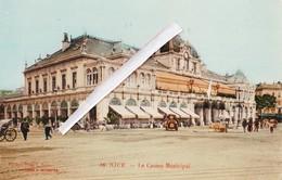 NICE - Le Casino Municipal - Superbe Carte Colorée Glacée - Monumenten, Gebouwen