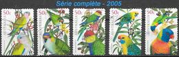 Australie - Perroquets - Y&T N° 2302 / 2306  - Oblitérés - Lot 259