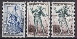 FRANCE 1953 - LOT - Y.T. N° 956 / 957 X 2  - OBLITERES /  FD511 - Usati