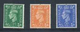 GRANDE-BRETAGNE - 1941 - Yvert N# 209Ab/212Ab/213Ab - NEUFS ** Luxe MNH - Série 3 Valeurs  - George VI - Unused Stamps