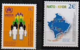 Kosovo UN 2003 Troupes KFOR OTAN NATO 5 Years Peace, 2 Val MNH