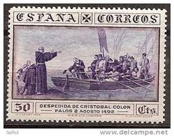 SPAIN Edifil # 542 * MH Avec Ch. Colon Columbus America Discover Ships / Barcos - Nuevos