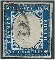 1863 REGNO USATO EFFIGIE 15 CENT - P52-2