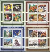 Guinea Bissau / Guinée-Bissau 2003 World Scout Jamboree, Sattahip, Thailand.Scouting.Owls,Dogs,Butterflies,4 S/S.MNH