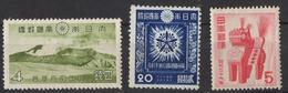 Q399.-.JAPAN/JAPON.1939-1953. SC#: 291,346 AND 594. MNH. SCV: US$ 10.00
