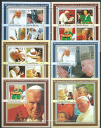 Guinea Bissau / Guinée-Bissau 2003 The 25th Anniversary Of The Pontificate Of Pope John Paul II.Famous People.6 S/S.MNH