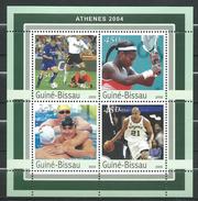 Guinea Bissau / Guinée-Bissau 2003 Olympic Games - Athens, Greece.Football,Tennis.Basketball,Swimming.sport M/S.MNH