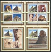 Guinea Bissau / Guinée-Bissau 2003.Monuments Of Egypt.the Pyramids, The Sphinx, Mosque.4 S/S.MNH