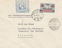 Suisse - Lettre/Timbre 9a Surchargé - 22/05/1938 - YT PA 26