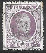 1922 25c King Albert, Used - 1922-1927 Houyoux
