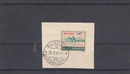 Suisse - O - Timbre 32 Surchargé - Année 1941 - YT PA 34A S/fragment Daté Du 28/05/1941