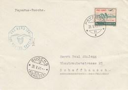 Suisse - Lettre/Timbre 32 Surchargé - 28/05/1941 - YT PA 34A S/fragment