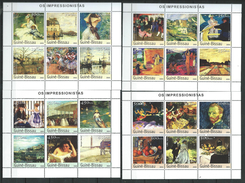 Guinea Bissau / Guinée-Bissau 2003 Impressionist Paintings.Art,Act,self-portrait.full Serial 9 S/S.MNH ( 3 Scans ) - Guinea-Bissau
