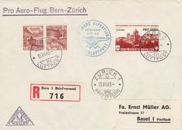 Suisse -  Lettre/30è Anniv. Traversée Alpes - 13/07/1943 - YT PA 35