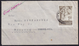 Argentina 1956 Airmail Letter Sent From Chascomús To Beograd (Yugoslavie) - Luftpost