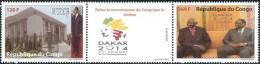 Congo 2014 Dakar Sommet De La Francophonie President Sassou (Congo) Sall & Diouf (Senegal). Mint - Ongebruikt