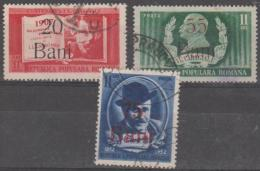 ROMANIA - 1952-53 Surcharges. Scott 817-819. Used