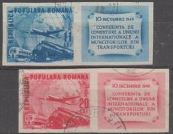 ROMANIA - 1949 IMPERF Planes. Scott 710-711. Used
