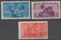 ROMANIA - 1950 Young Pioneers. Scott 745-747. Used