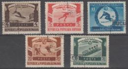 ROMANIA - 1951 University Winter Games. Scott 768-772. Used