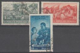 ROMANIA - 1951 Young Pioneers. Scott 777-779. Used