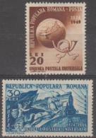 ROMANIA - 1949 UPU. Scott 706-707. Mint
