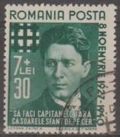 ROMANIA - 1940 Iron Guard. Scott B145. Used