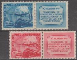 ROMANIA - 1949 Planes. Scott 710-711. Mint