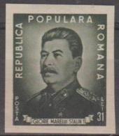 ROMANIA - 1949 Imperf Stalin. Scott 718. Mint