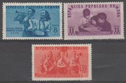ROMANIA - 1950 Young Pioneers. Scott 745-747. Mint