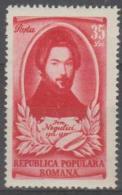 ROMANIA - 1951 Painter. Scott 781. Mint