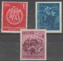 ROMANIA - 1951 Youth Festival. Scott 783-785. Mint