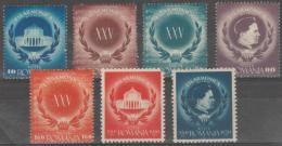 ROMANIA -  1946 Philharmonic Society. Scott 600-604, B330-331. Mint - Neufs