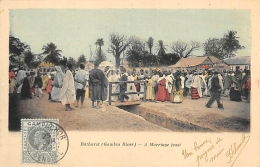 AFRIQUE  GAMBIE  RIVER GAMBIA   BATHURST  A MARRIAGE FEAST - Gambie