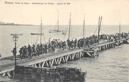 AFRIQUE  GUINEE - BISSAU   BISSAU   PONTE DE CAES  DESEMBARQUE DE FORCAS   GUERRA DE 1908 - Guinea-Bissau