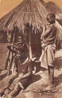 MALAWI  SHIRE ( AFRIQUE CENTRALE ORIENTALE  ) INSOUCIANCE  ENFANTS NOIRS  COLLAGE SUR SUPPORT CARTON - Malawi