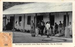 SAO TOME ET PRINCIPE  SERVICAES ENSACCANDO CACAU ROCA NOVA CUBA, ILHA DO PRINCIPE - Sao Tome Et Principe