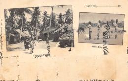TANZANIE   ZANZIBAR  N'GAMBO STREET  NATIVE PRISONERS   DEUX VUES - Tanzanie