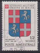 SMOM Sovereign Military Order Of Malta Mi 177 - Coats Of Arms Of The Grand Masters - Geoffroy Le Rat - 1980 - Malta (Orde Van)
